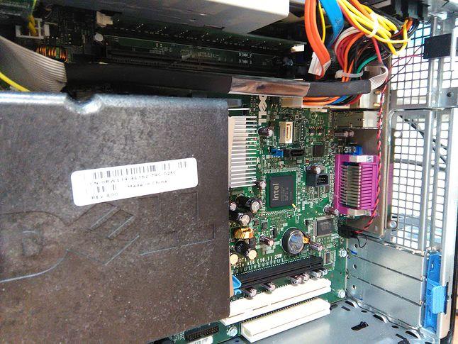 Dell Optiplex 755 - wnętrze