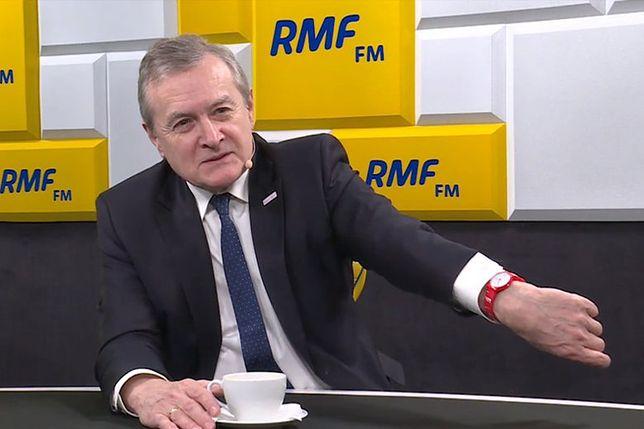 Prof. Piotr Gliński pokazał w studiu RMF FM zegarek