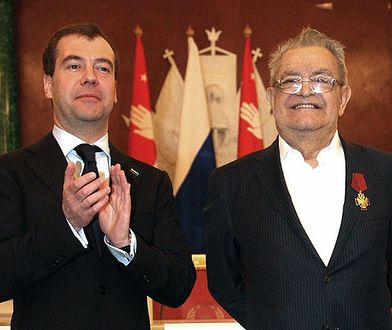 Fazil Iskander i premier Rosji Dmitrij Miedwiediew