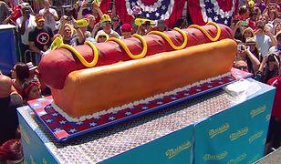 Tort w kształcie hot-doga