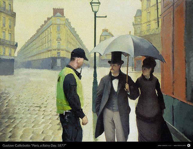 Obraz Gustave'a Caillebotte'a po przeróbce