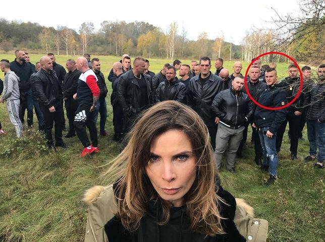 Agnieszka Dygant na planie nowego filmu Vegi.