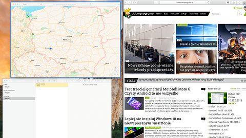 OS X El Capitan: Korzystaj z dwóch okien obok siebie