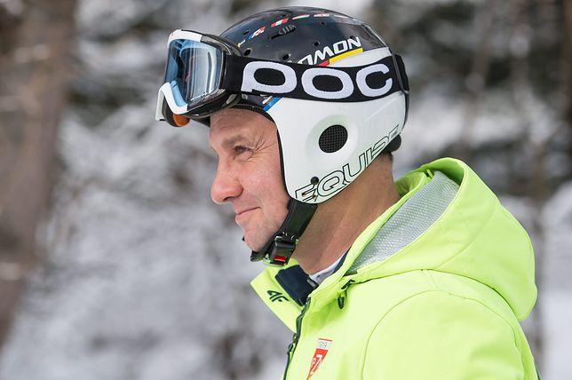 Andrzej Duda kończy sezon narciarski. Wrzucił wideo ze slalomu