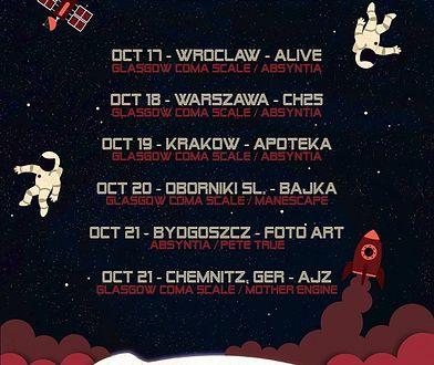 Rusza rasa koncertowa zespołów Absyntia i Glasgow Coma Scale! Będzie mocne granie!