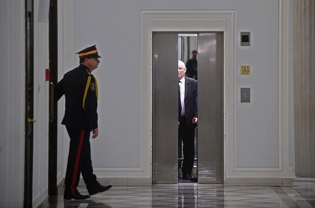 Prezes PiS Jarosław Kaczyński w Sejmie.