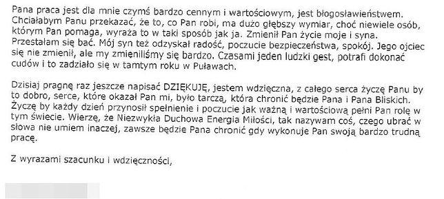 List opublikowany przez Policję.