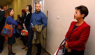 Oskarżona Hanna Ż. oraz Barbara Bonk i Bartłomiej Bonk w opolskim sądzie