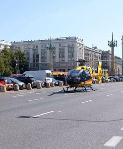 Warszawa. Trzeci dzień protestów ratowników. Centrum miasta zamienia się w lotnisko