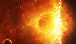 Trzy masy Słońca zmienione na energię...