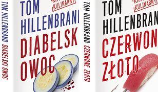 """Seria kryminałów kulinarnych (tom 1. i tom 2.). Kryminały kulinarne Toma Hillenbranda. """"Diabelski owoc"""" i """"Czerwone złoto"""""""