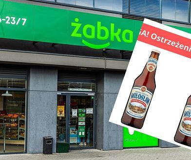 """Piwo Miłosław wycofane z Żabki. """"Ciało obce"""" w butelce"""