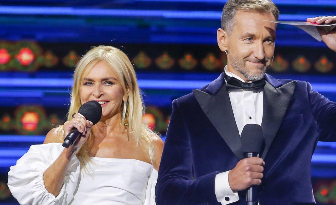 Monika Olejnik i Piotr Kraśko podczas Top of the Top Sopot Festival 2021