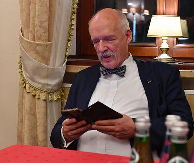 Janusz Korwin-Mikke jest przeciwny wypłacaniu 500+