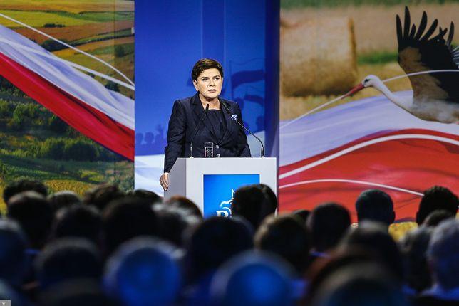 Beata Szydło na spotkaniu wyborczym.