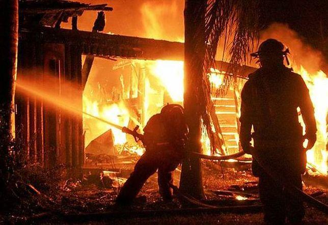 Spalony dom stał na uboczu wsi Kaziopole