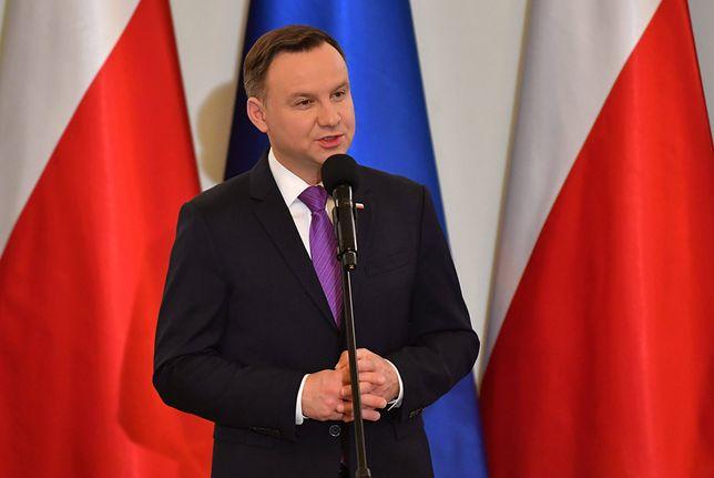 Prezydent Andrzej Duda odebrał państwowe oznaczenia