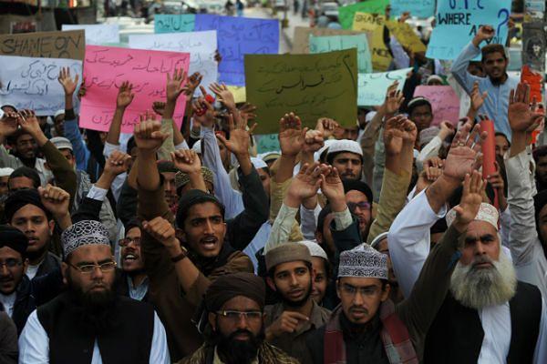 Protest w Karaczi, Pakistan