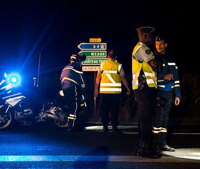 Miejsce wypadku w pobliżu Paryża