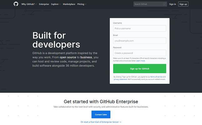 GitHub – serwis znany prawdopodobnie każdemu programiście.