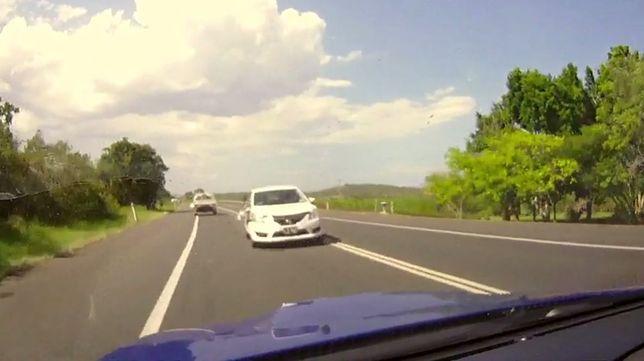 #dziejesiewmoto: dzięki refleksowi kierowca uniknął zderzenia czołowego