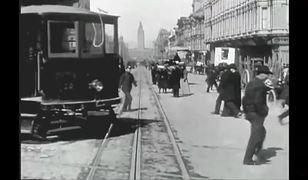 Ponad 110 lat temu tak jeździło się po mieście. Odnaleziono nieznane nagranie