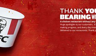 W KFC zabrakło kurczaków. Nietypowa reakcja firmy