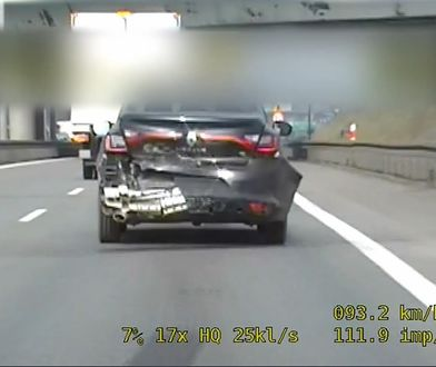 Trasa S8. Jechał rozbitym autem. Był zaskoczony, że zatrzymała go policja