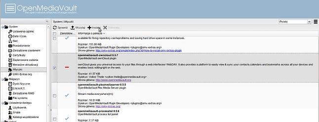 Instalacja ownCloud w OMV
