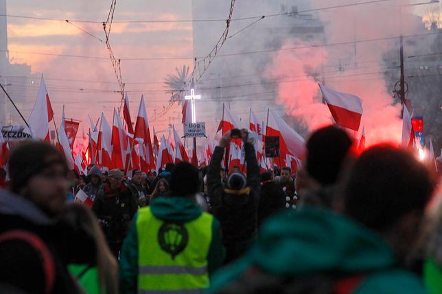 Policja zatrzymała kilkanaście uzbrojonych osób przed Marszem Niepodległości