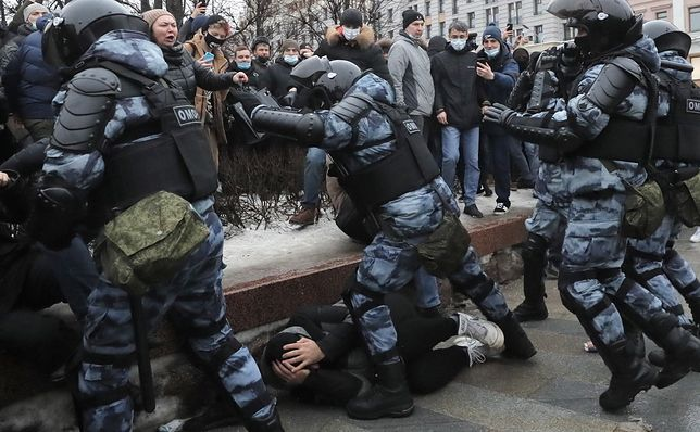 Protesty w Moskwie po aresztowaniu Aleksieja Nawalnego