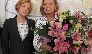 Ligia Krajewska (po lewej) z Anną Marią Anders, dzisiaj senator PiS. Była posłanka stała się obiektem kpin internautów.