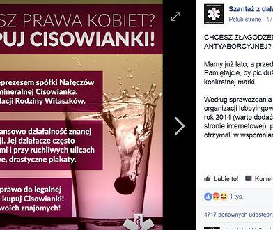 Bojkot Cisowianki za wiceprezesa. Nie wszyscy internauci podchwycili akcję aktywistów
