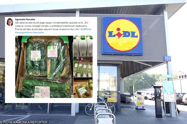 Posłanka zarzuca Lidlowi, że produkty BIO pakuje w plastik. Sieć odpowiada