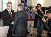 Premier Donald Tusk i wicepremier Waldemar Pawlak przed posiedzeniem rządu