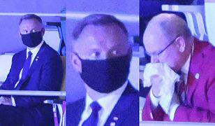 Kaszlał i smarkał przy prezydencie! Wzrok Andrzeja Dudy mówi wszystko