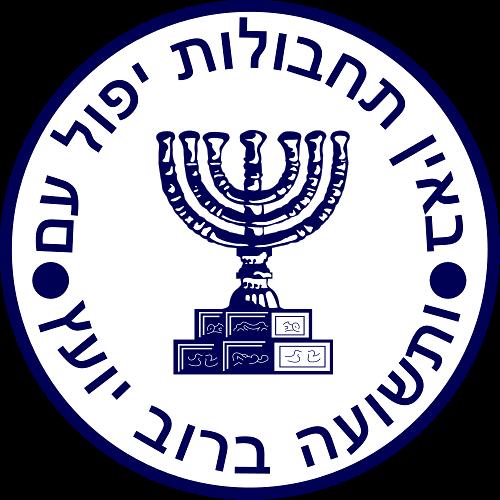Logo Mosadu zawiera żydowską menorę
