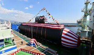 Nowy okręt podwodny Japonii zwodowany. Będą na nim służyć kobiety