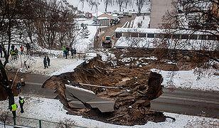 Gigantyczne osuwisko w centrum Ostrowca Świętokrzyskiego