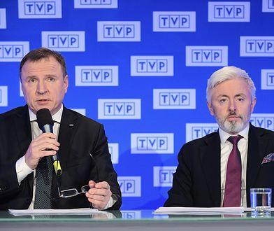 Prezes TVP Jacek Kurski i członek zarządu Telewizji Polskiej Maciej Stanecki