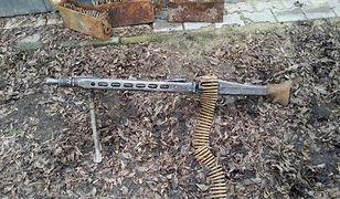 W trakcie rozbiórki budynku w Koźminie Wielkopolskim znaleziono karabin maszynowy z amunicją z czasów II wojny światowej