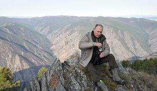 Putin podczas wakacji w górach Sajanach w Republice Tuwy