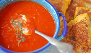 Kremowa zupa ze świeżych pomidorów
