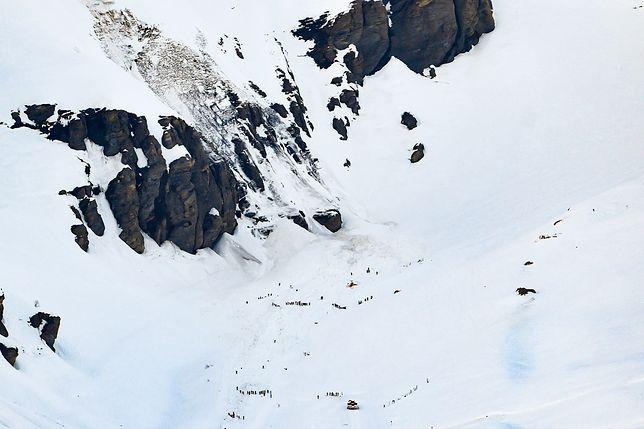 Lawina w Alpach
