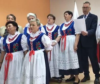 Stanisław Szwed z zespołem z Bielska Białej