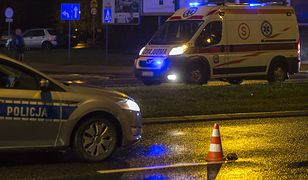 Rozbite BMW na słupie w Poznaniu. Zabity i ranni