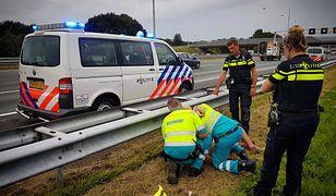 Holenderska policja zatrzymuje pijanego kierowcę ciężarówki
