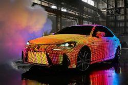 Muzyczny Lexus pokryty 41 999 diodami LED