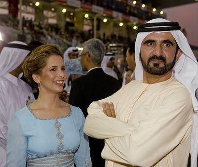Księżniczka Haya z mężem Mohammedem bin Rashidem Al Maktoumem