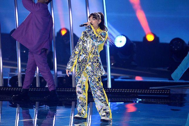Viki Gabor podczas konkursu Eurowizji Junior w Gliwicach